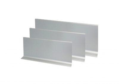 Rodapié de aluminio