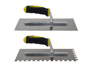 Steel trowel 12x48 with rubber handle