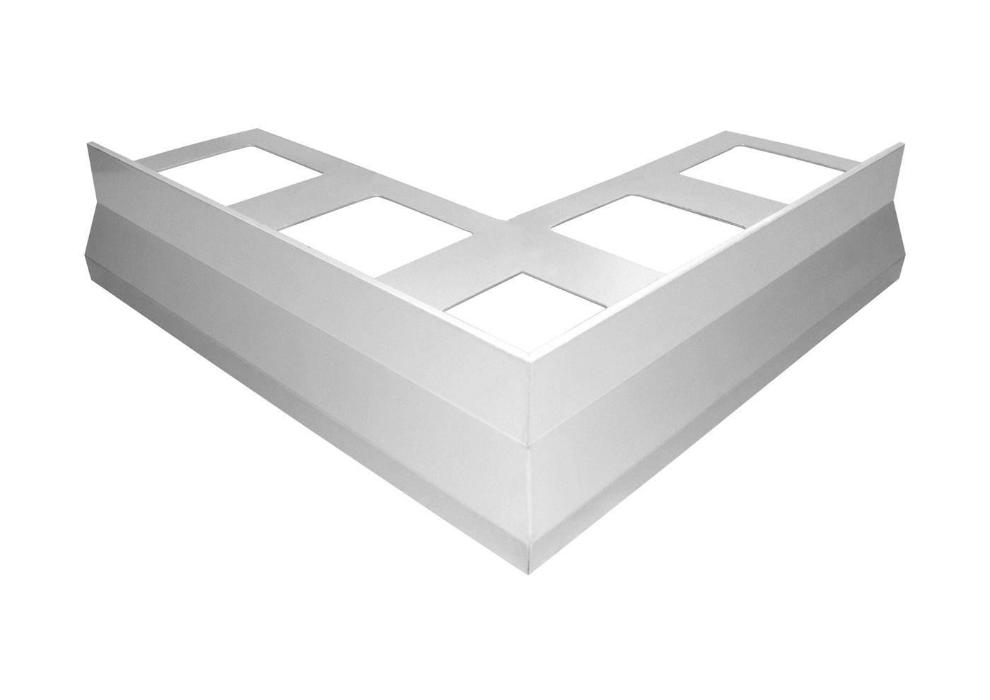 Gocciolatoio NOR per balconi e terrazze in alluminio