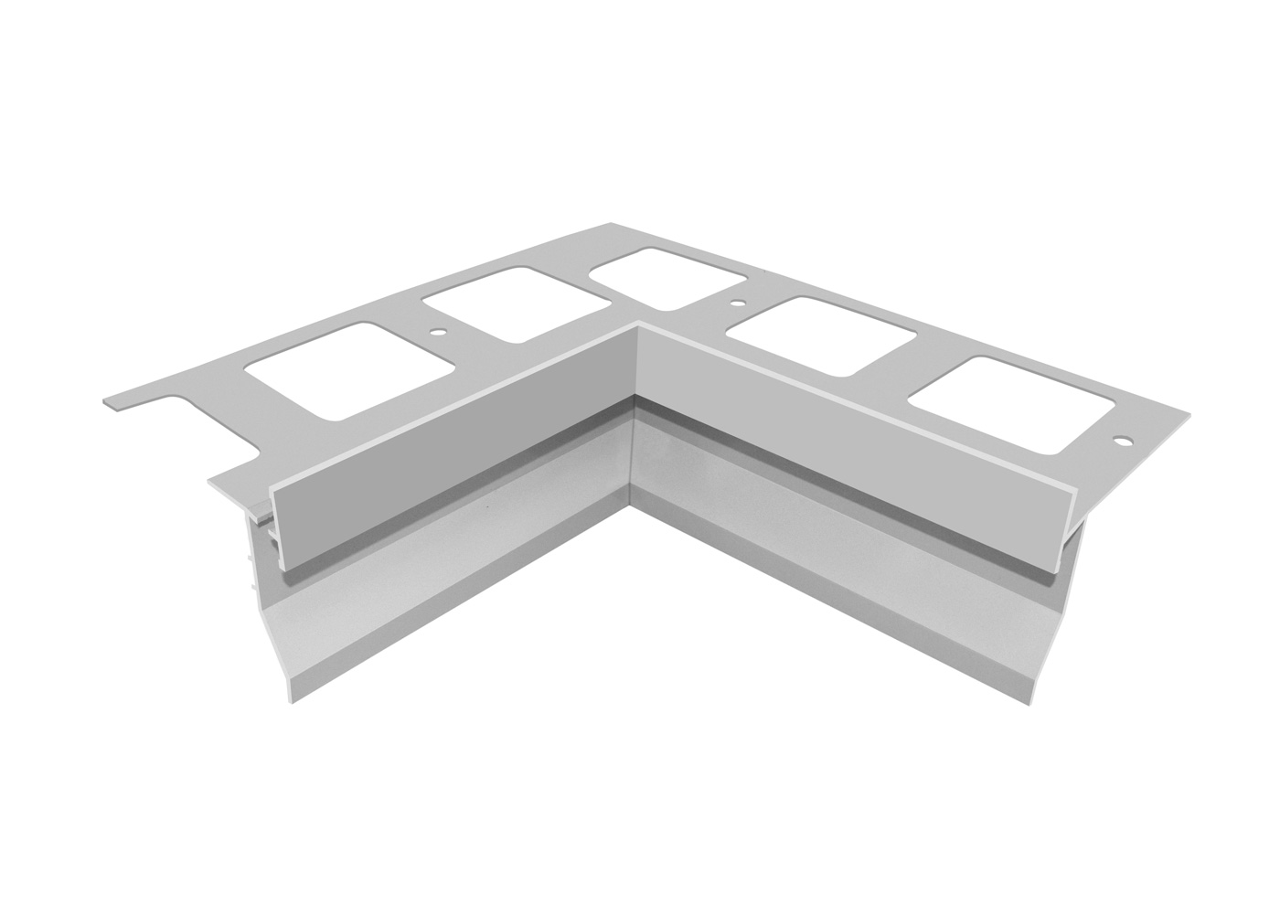 Aluminium drip for balcones and terraces