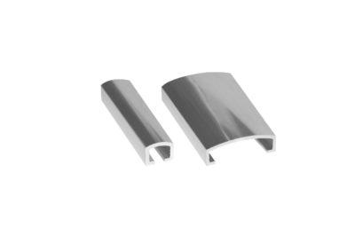 Silver aluminium listello