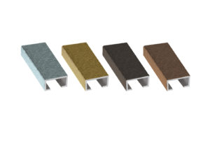 Aluminium profiles with decoration