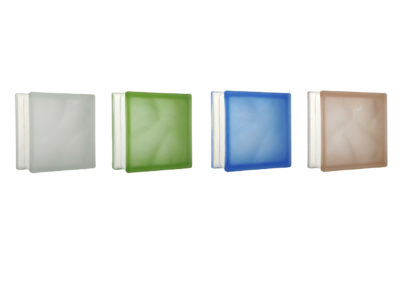 Nuvola frosted glass block 19×19 cm