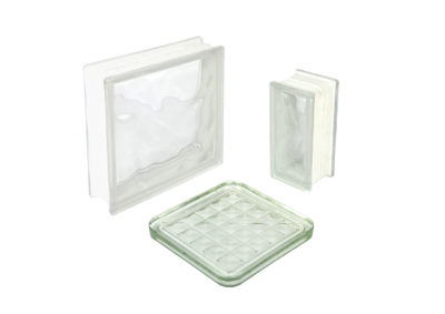 Nuvola transparent glass block-glass plate