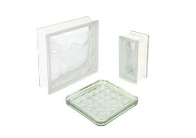 Bloque de vitrio nubla trasparente