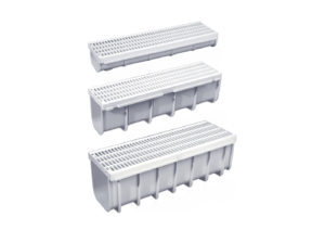 Drain channel+complete grating