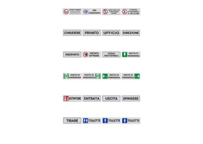 Signos adhesivos 15×5