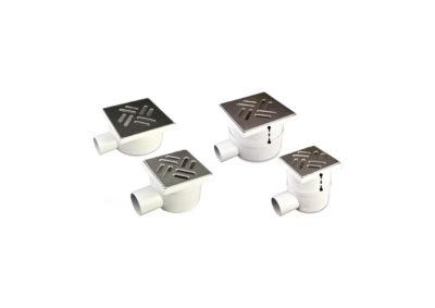 Sumideros sifonados telescópicos con rejilla acero