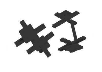 Distanciadores para bloque de vidrio