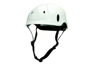 Rock climber safety helmet