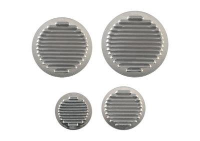 Round alluminium grating