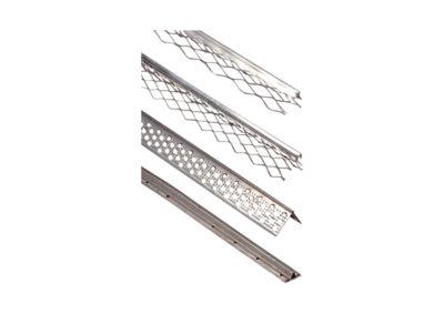 Guardavivo en plastico y guía de acero galvanizado y aluminio en forma de «T»