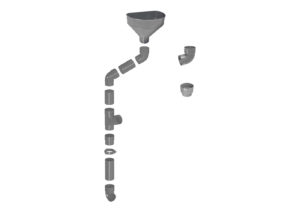 Pluvial catch basin  Ø100 and accessories