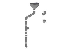 Raccoglitore per pluviali Ø100 e accessori