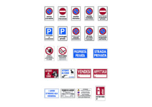 Plastic signs 20x30