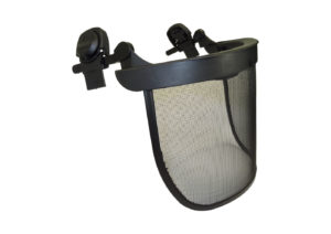 Mesh shield for safety helmet
