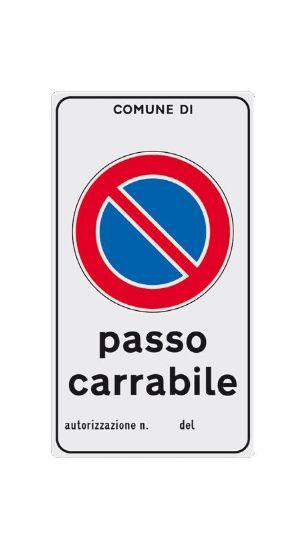 Scheda cartelli linea privata 20x30