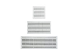 Plastic ventilation gratings