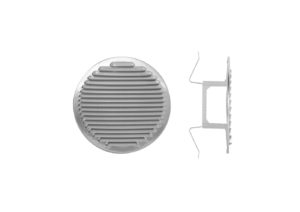 Round aluminium grating - version with springs