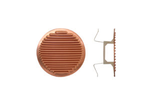 Round copper grating - version with springs
