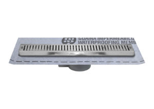 Linear shower drain with grating