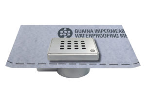 Adjustable shower drain 10x10cm